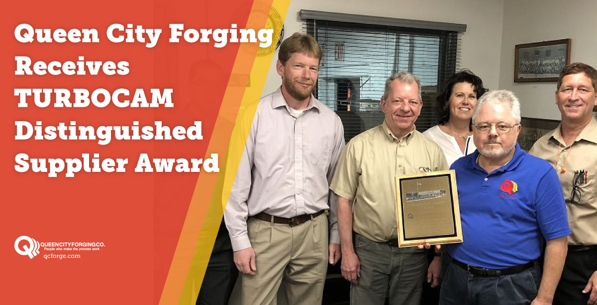 Queen City Forging Receives TURBOCAM Distinguished Supplier Award