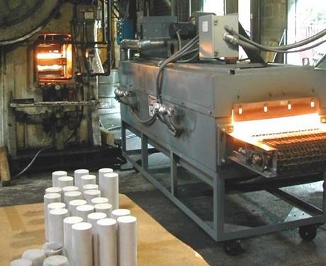 Infrared aluminum forging oven