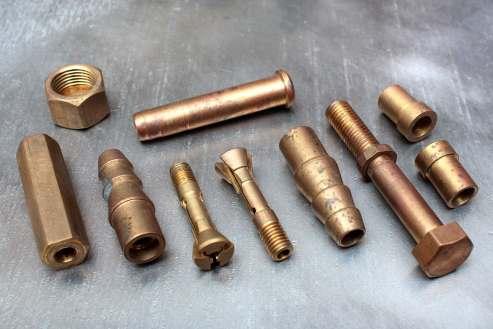 brass bolts, screws, fittings